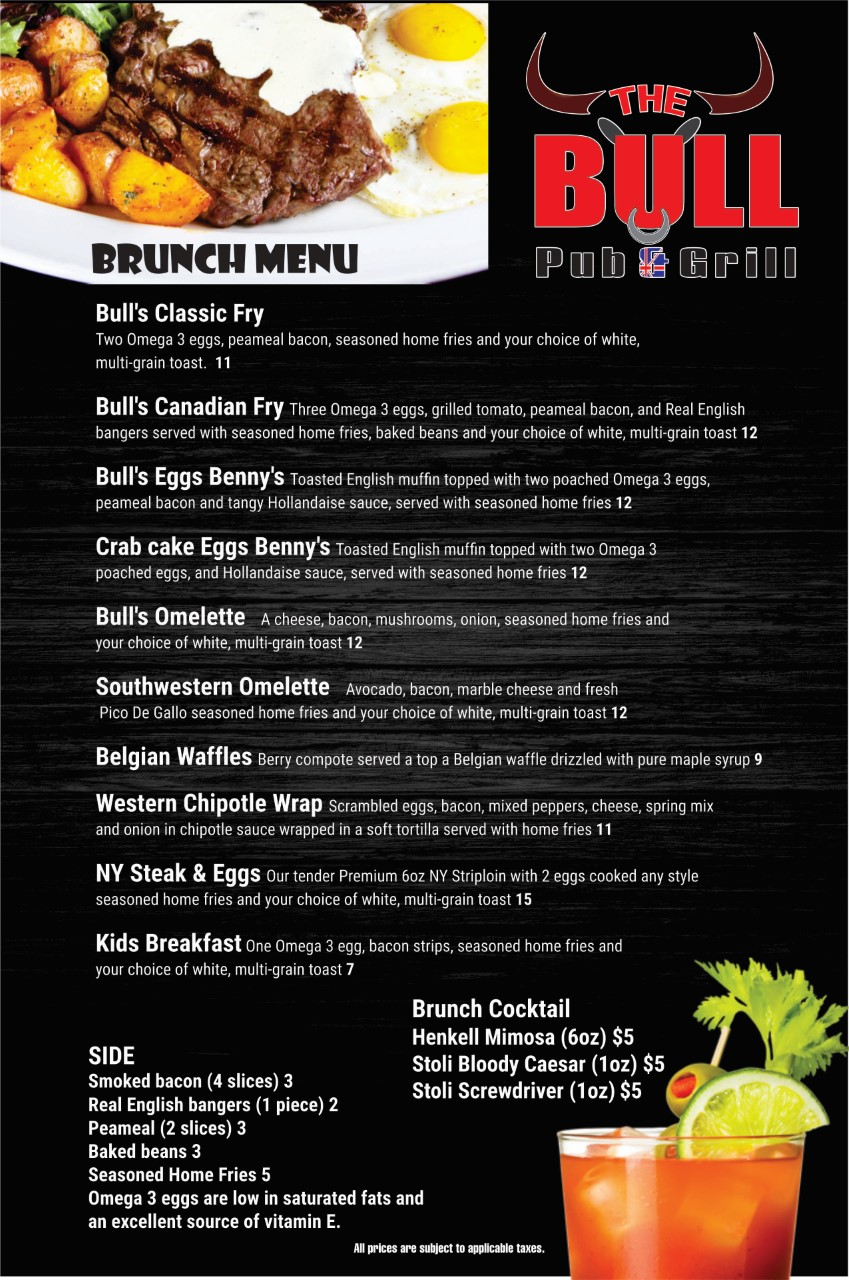 BRUNCH MENU Food 2